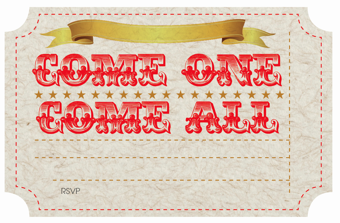 Circus Ticket Invitation Template Free Awesome Free Printable Circus Party Invites Nooshloves