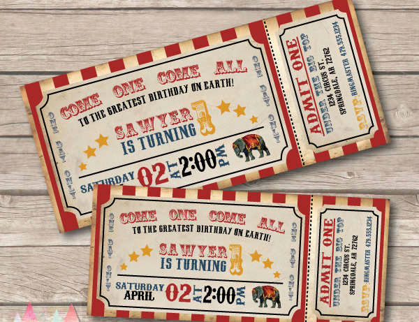 Circus Ticket Invitation Template Free Fresh 11 Carnival Invitation Samples Psd Ai Vector Eps