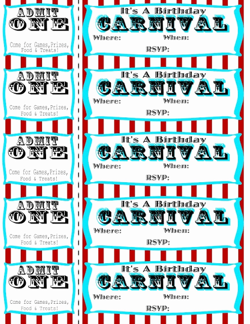 Circus Ticket Invitation Template Free Lovely Seeshellspace Carnival Free