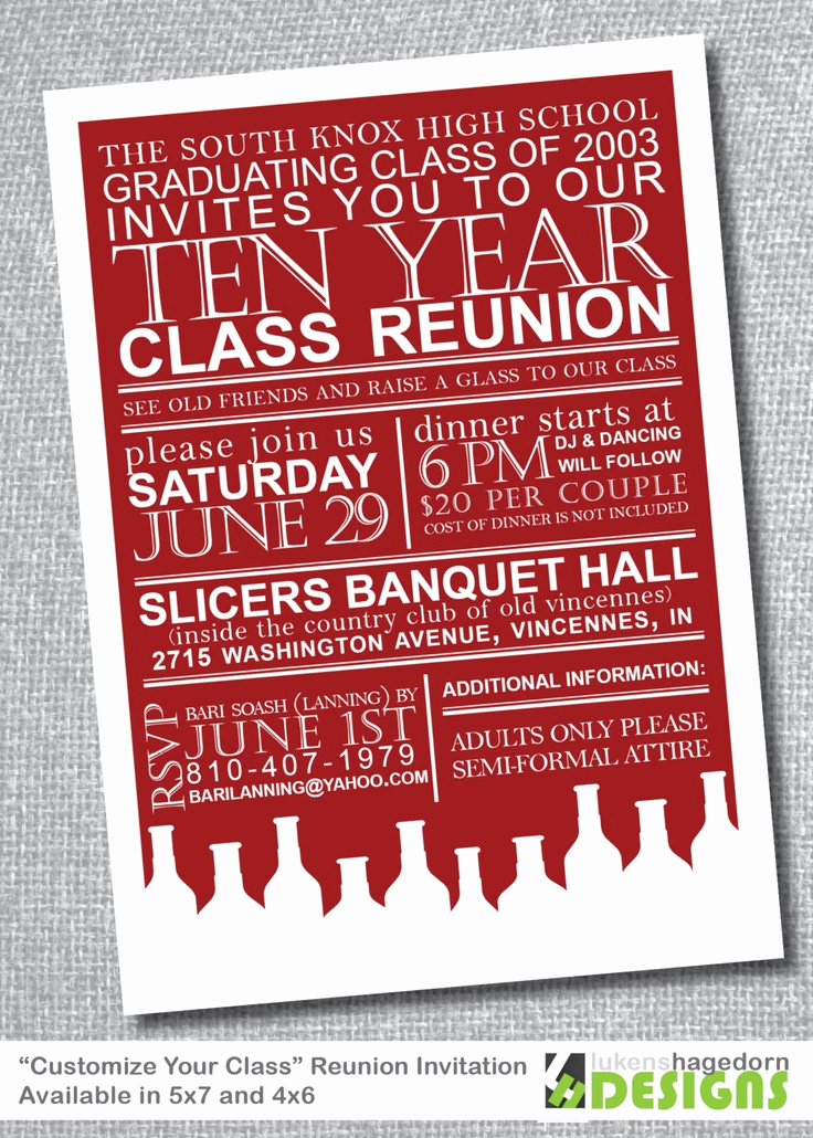 Class Reunion Invitation Ideas Elegant 64 Best Images About High School Reunion Invites On Pinterest