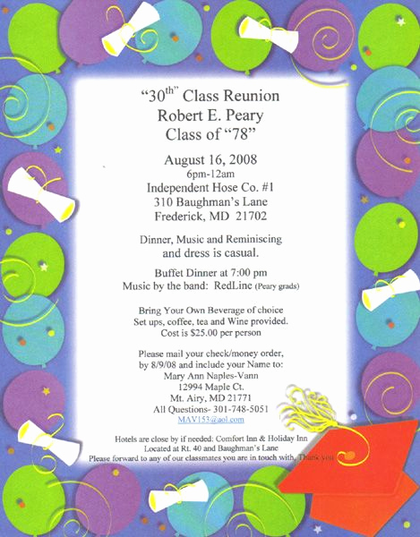 Class Reunion Invitation Ideas Lovely Class Reunion Ideas