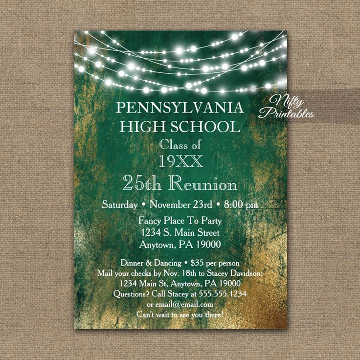 Class Reunion Invitation Ideas Luxury 17 Best Ideas About Class Reunion Invitations On Pinterest