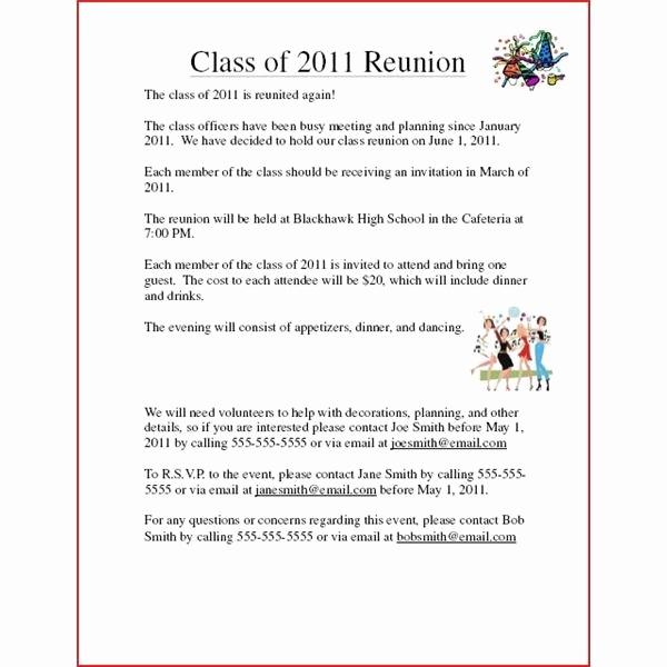 Class Reunion Invitation Templates Beautiful Class Reunion Invitation Examples Cobypic