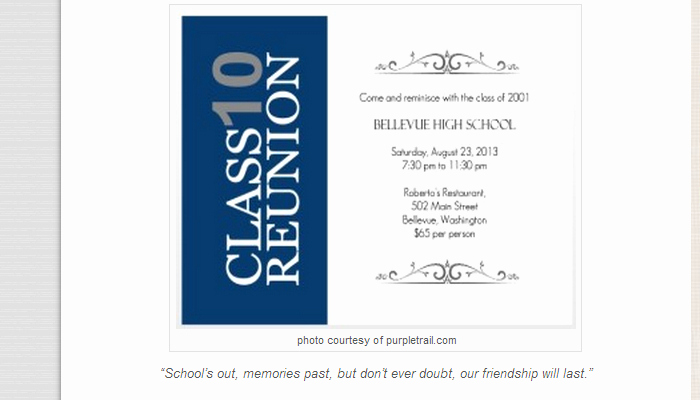 Class Reunion Invitation Templates Best Of 5 High School Reunion Flyer Templates