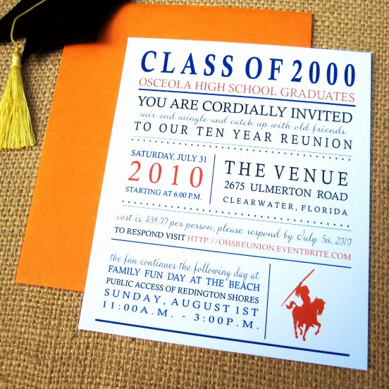 Class Reunion Invitation Templates Best Of Class Reunion