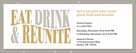 Class Reunion Invitation Templates Elegant Free Class & Family Reunion Invitations