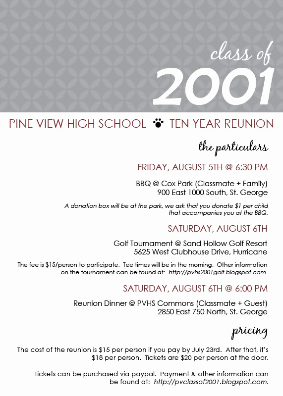 Class Reunion Invitation Templates Free Beautiful Class Reunion Ideas