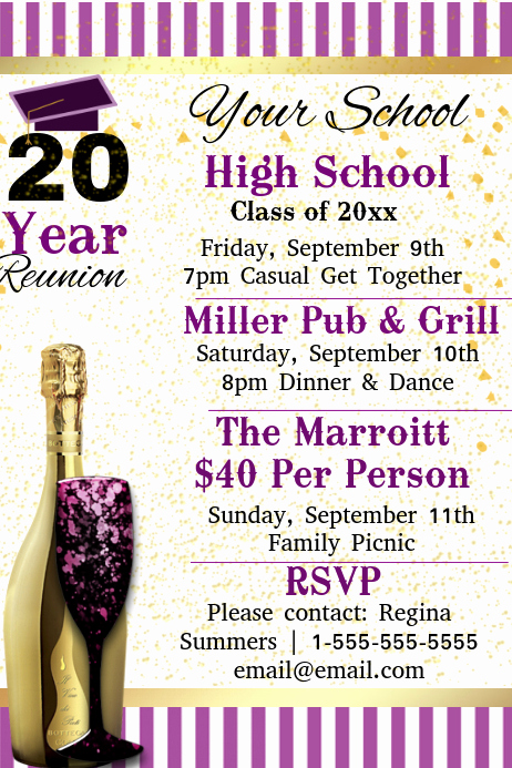 Class Reunion Invitation Templates Free Best Of Copy Of High School Reunion