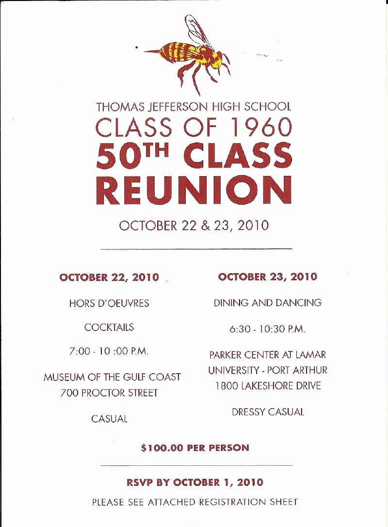 Class Reunion Invitation Templates Free Fresh 50th Class Reunion Invitations
