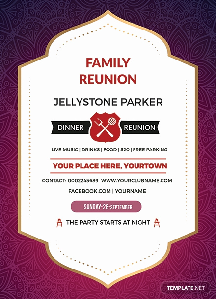 Class Reunion Invitation Templates Free Fresh Free Family Dinner Reunion Invitation Template Download