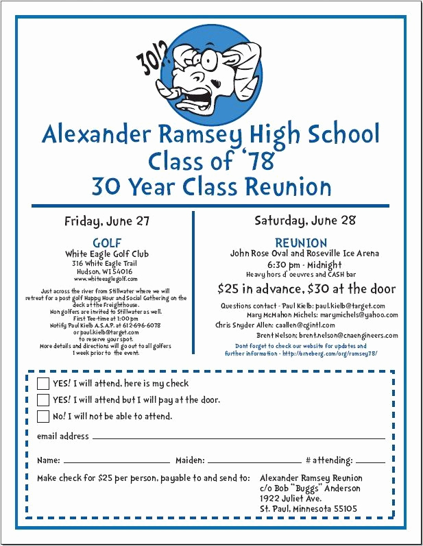 Class Reunion Invitation Templates Free Inspirational 90 Best Class Reunion Images On Pinterest