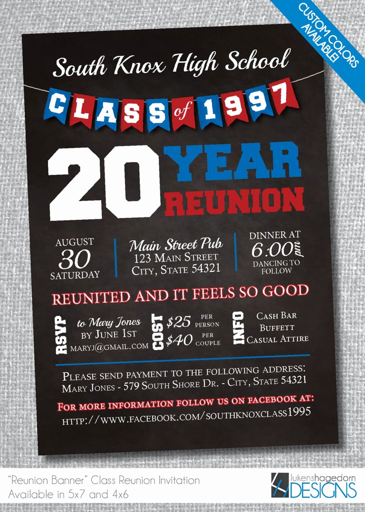 Class Reunion Invitation Templates Free Lovely 64 Best High School Reunion Invites Images On Pinterest