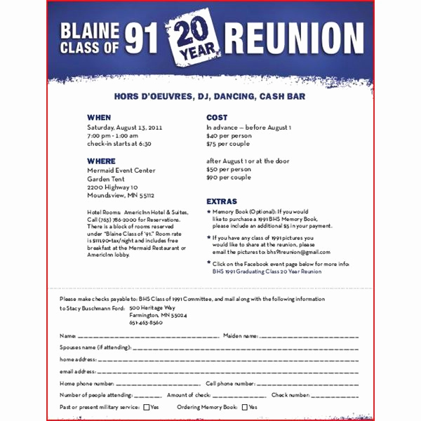 Class Reunion Invitation Templates Free New High School Reunion Flyers A Nice Selection Of