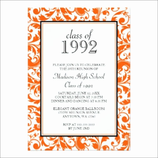 Class Reunion Invitation Templates Free Unique Reunion Invitation Template Cobypic