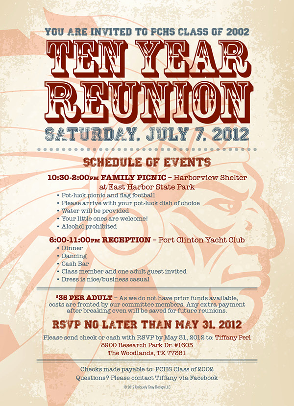 Class Reunion Invitation Templates Fresh 10 Year Class Reunion Invitation On Behance