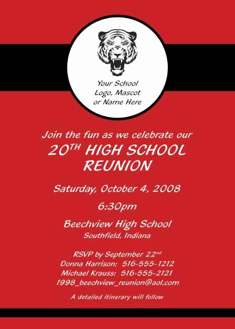 Class Reunion Invitation Templates Fresh Reunion Party Invitation Red Reunion