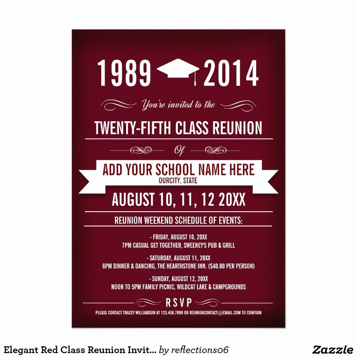 Class Reunion Invitation Templates Inspirational 25 Best Ideas About Class Reunion Invitations On