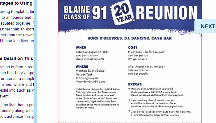 Class Reunion Invitation Templates Inspirational 5 High School Reunion Flyer Templates