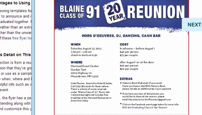Class Reunion Invitation Templates Inspirational 5 High School Reunion Flyer Templates