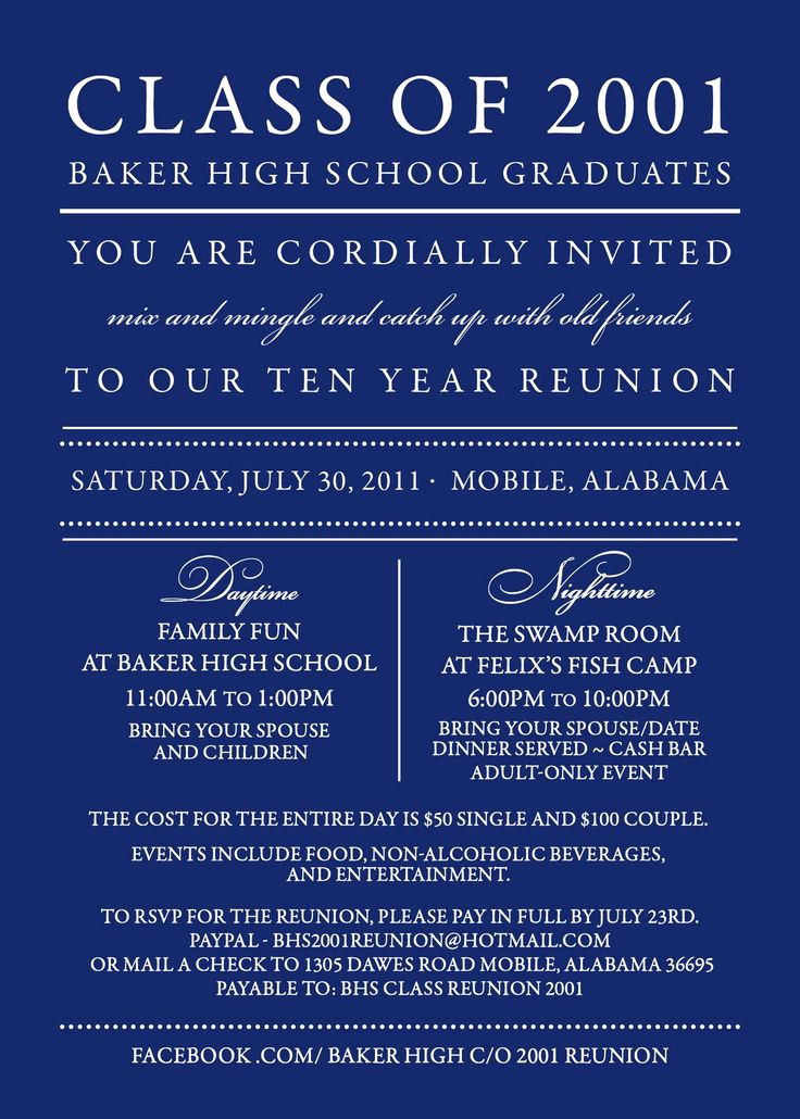 Class Reunion Invitation Templates Inspirational Best 25 Class Reunion Invitations Ideas On Pinterest