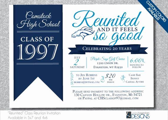 Class Reunion Invitation Templates Inspirational Best 25 Class Reunion Invitations Ideas On Pinterest