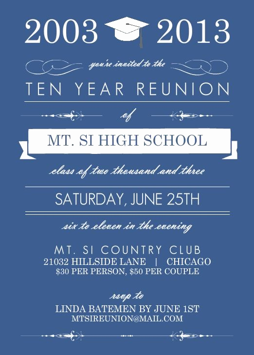 Class Reunion Invitation Templates Lovely High School Reunion Wording Ideas Pmhs 50th