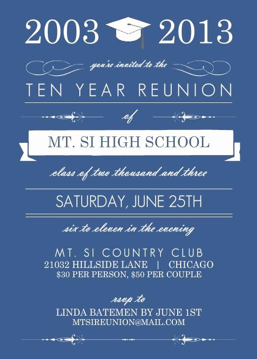 Class Reunion Invitation Templates Lovely High School Reunion Wording Ideas Pmhs 50th