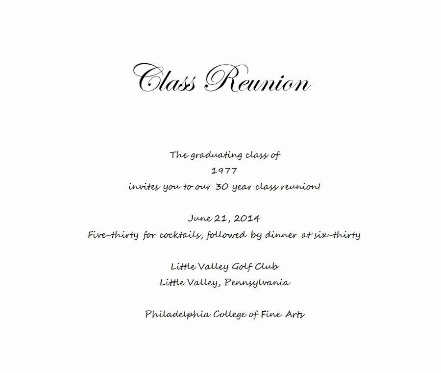 Class Reunion Invitation Templates Luxury Class Reunion Invitation 5 Wording