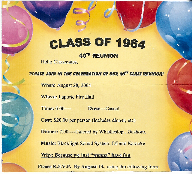 Class Reunion Invitation Templates New Reunion Party Invitations