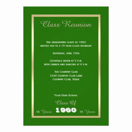 """Class Reunion Invitation Templates Unique Class Reunion Invitations Any Year Invitation 5"""" X 7"""