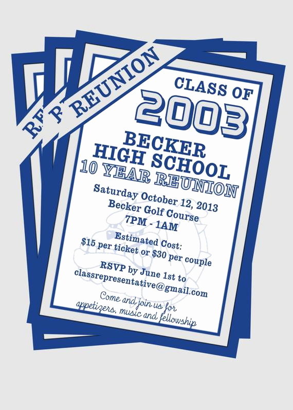 Class Reunion Invitation Wording Beautiful Items Similar to Class Reunion Invitation Customize with