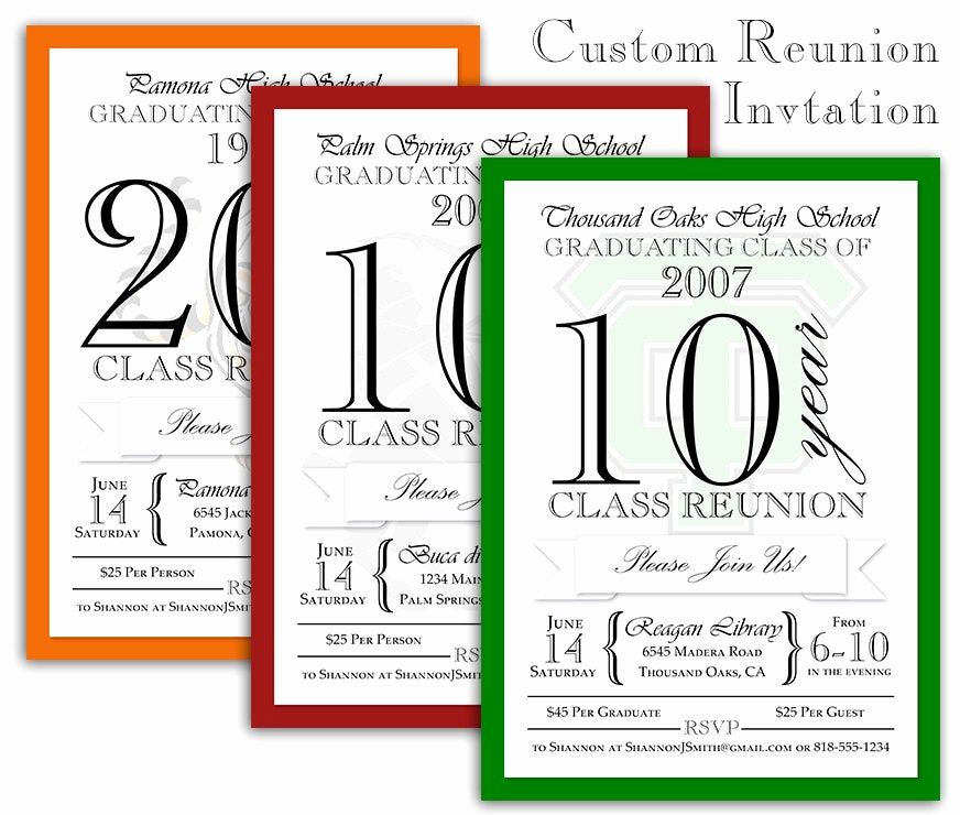 Class Reunion Invitation Wording New Custom Class Reunion Invitation with by Shameronstudios On