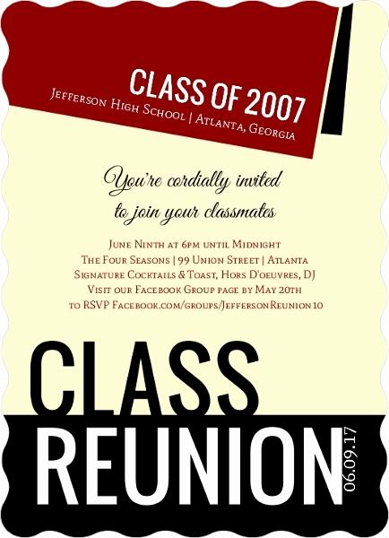 Class Reunion Invitation Wording New Diploma Class Reunion Invitation
