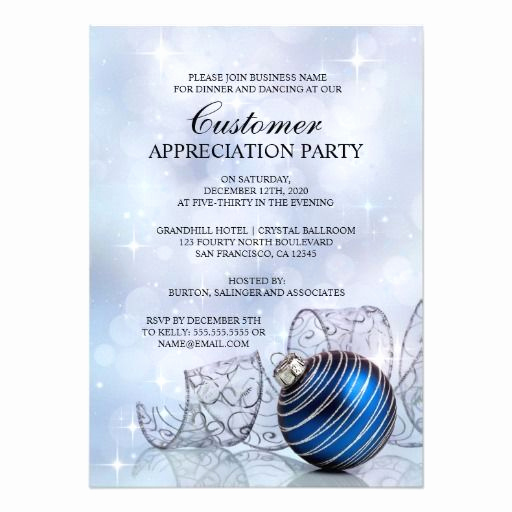Client Appreciation event Invitation Awesome Holiday Customer Appreciation Party Invitations