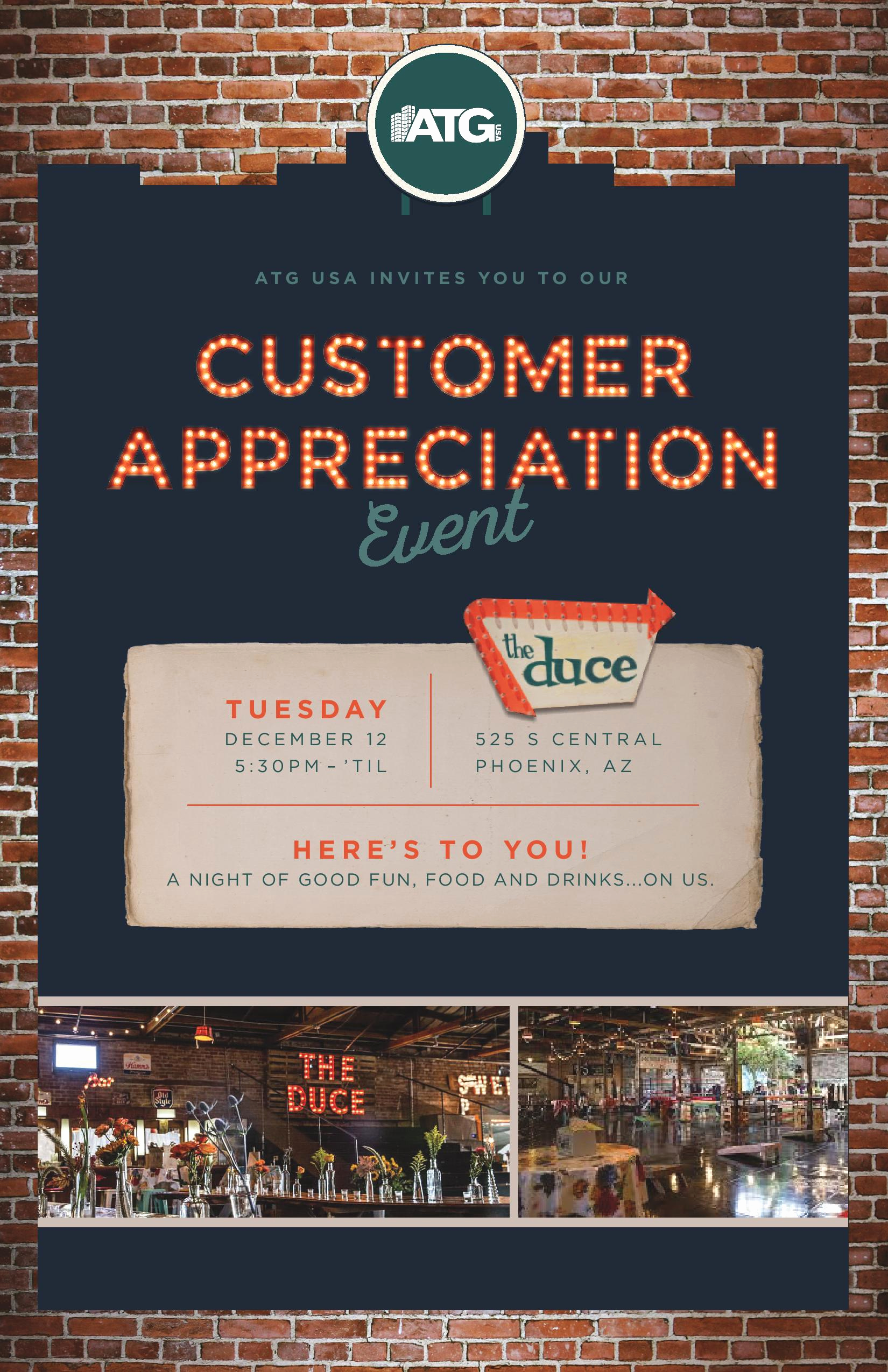 Client Appreciation event Invitation Awesome You are Invited to Our Customer Appreciation event