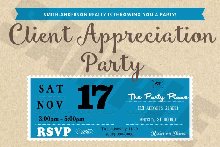 Client Appreciation event Invitation Best Of Pin by Jescalee Designs On Custom Design orders