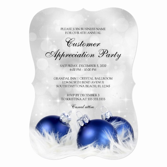Client Appreciation event Invitation Elegant Holiday Cheer Business Holiday Party Invitation