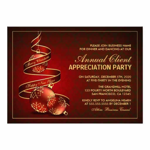 Client Appreciation event Invitation Inspirational Elegant Customer Appreciation Party Invitations