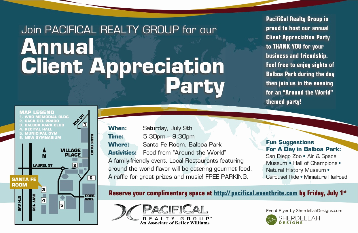 Client Appreciation event Invitation Lovely Pacifical Realty Group Client Appreciation Party Tickets
