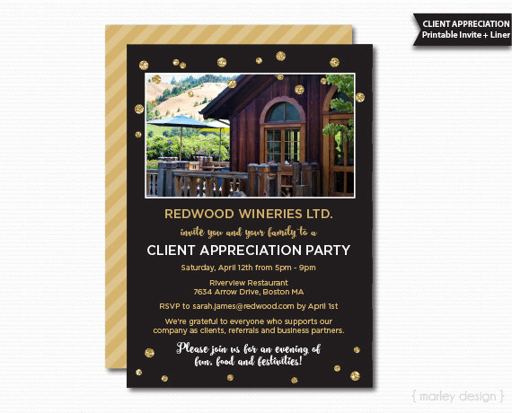 Client Appreciation event Invitation Luxury Client Appreciation Invitation Fice Party Invitation