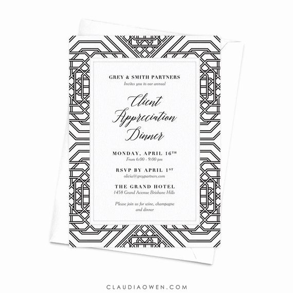 Client Appreciation event Invitation New Client Appreciation Dinner Geometric Design Business