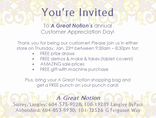 Client Appreciation event Invitation New Customer Appreciation Day