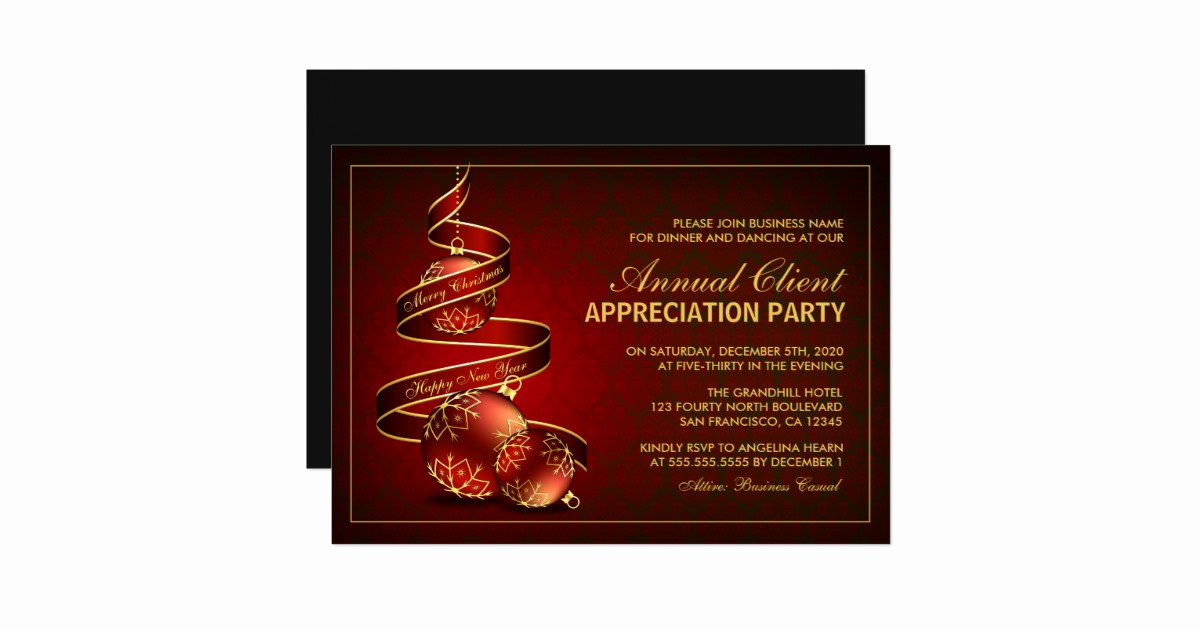 Client Appreciation event Invitation New Elegant Holiday Client Appreciation Party Invite