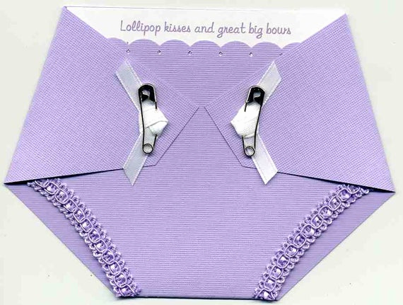 Cloth Diaper Baby Shower Invitation Best Of Baby Shower Invitation Diaper Shaped In Purple by