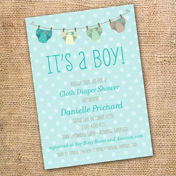 Cloth Diaper Baby Shower Invitation Lovely Baby Boy Cloth Diaper Clothesline Printable Invitation Cloth