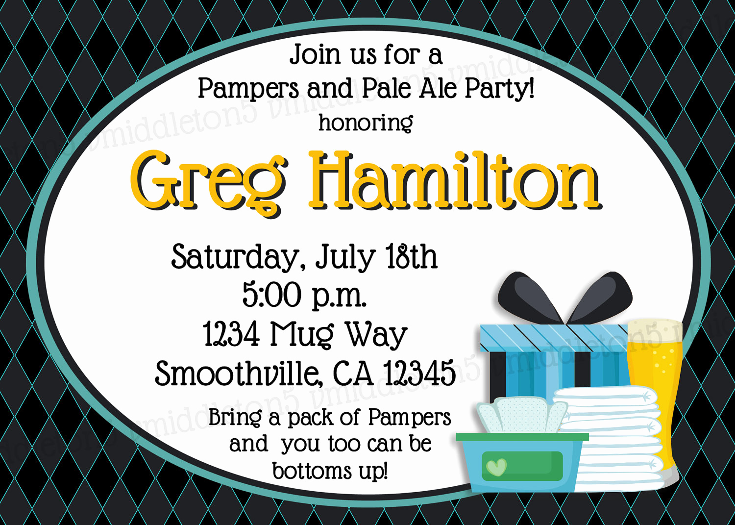 Cloth Diaper Baby Shower Invitation Lovely Man Diaper and Beer Baby Shower Pampers and Pale Ale Party
