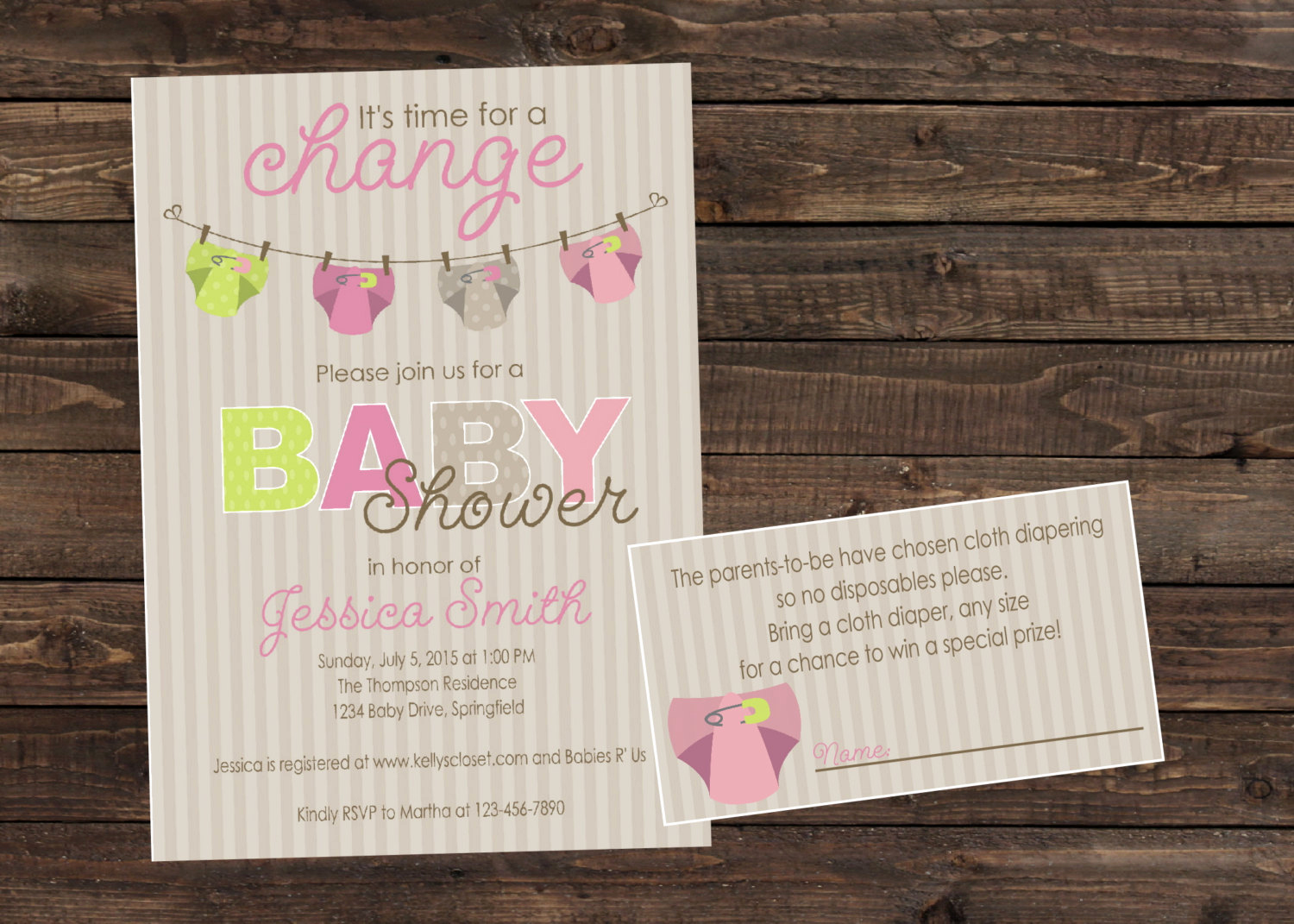 Cloth Diaper Baby Shower Invitation New Cloth Diaper Girl Baby Shower Invitation by Partyperfectdesign
