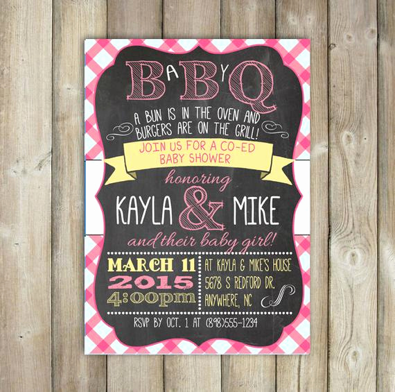 Co Ed Baby Shower Invitation Awesome Baby Q Invitation Babyq Baby Shower Invitation