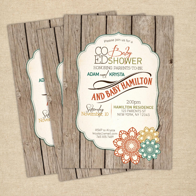 Co Ed Baby Shower Invitation Fresh Baby Shower Invitation Co Ed Optional Gender Neutral