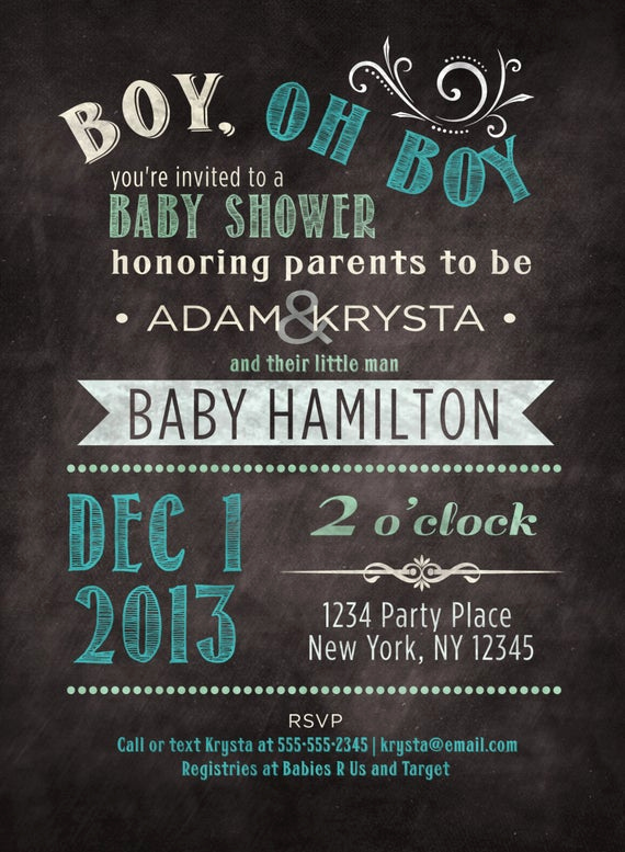 Co Ed Baby Shower Invitation Inspirational Baby Boy Shower Invitation Co Ed Baby Shower Custom Baby